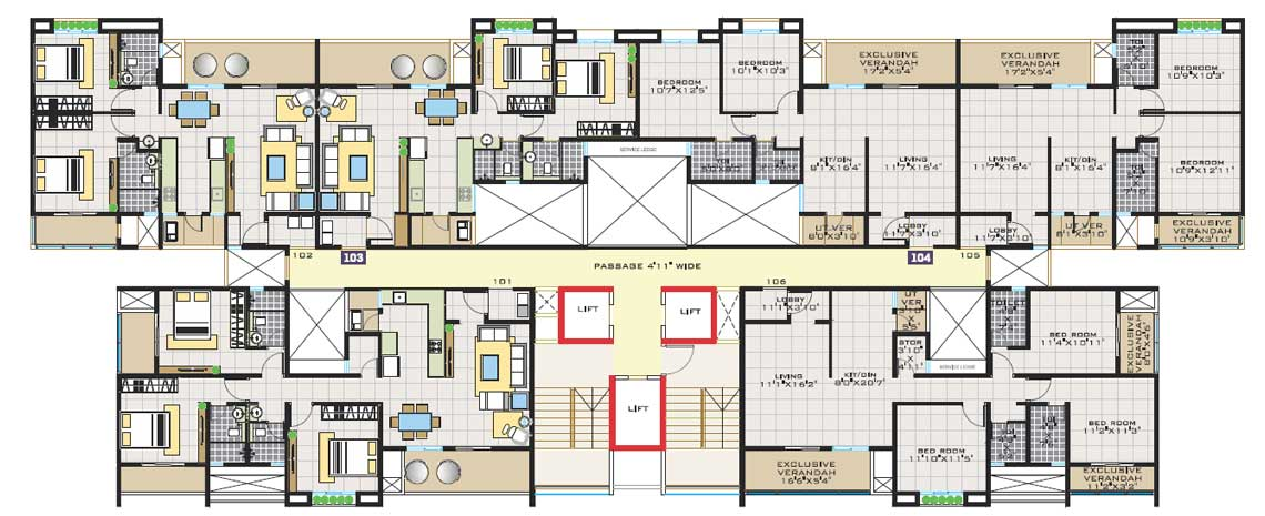 2 Bhk Plan Images Best Projects In Delhi Ncr Cherry