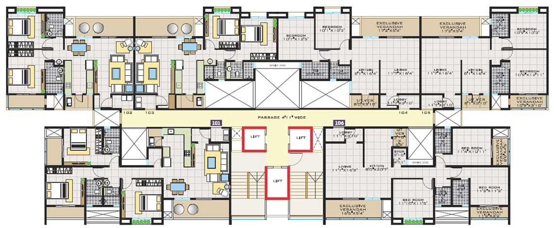 Layout Floor Plans Park Land Homes Pune